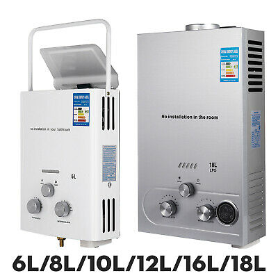6L/8L/10L/12L/16L/18L LPG Hot Water Heater W/ Shower Kit Stable Safe Propane Gas