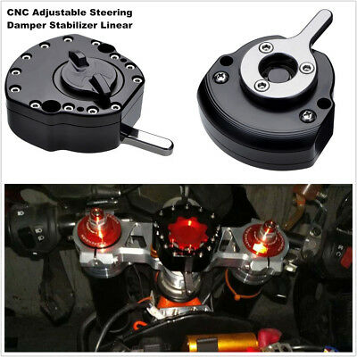 Motorcycle Aluminum Adjustable Steering Damper Stabilizer Linear Safety Control