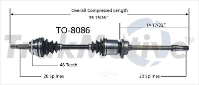CV Axle Shaft SurTrack TO-8086 fits 00-05 Toyota Celica
