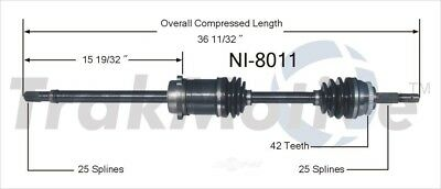 CV Axle Shaft Front Right SurTrack NI-8011 fits 91-93 Nissan NX