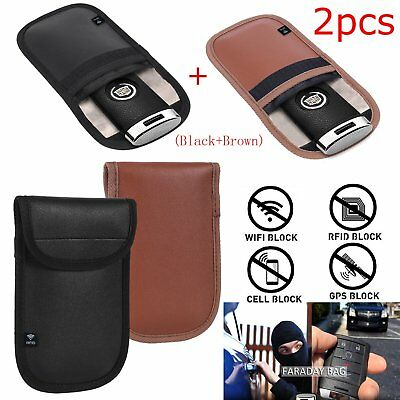 1 pair Anti-theft RFID Signal Blocking Faraday Keyless Entry Car Key Protect Bag