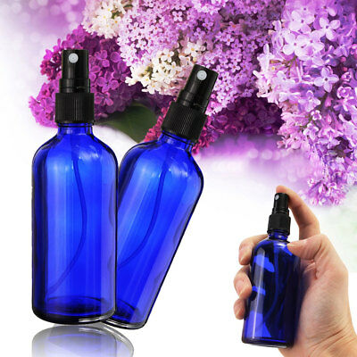 1/2Pcs 100ml Glass Essential Oil Spray Bottles With Fine Mist For Aromatherapy