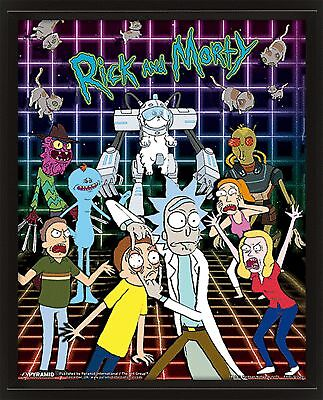 """Rick And Morty Characters Grid 3D Lenticular Picture Poster 10x8"""""""