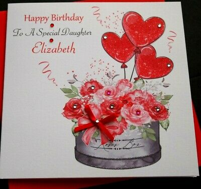 Handmade Birthday Card Personalised 16th 21st 40th Daughter Sister Niece Auntie