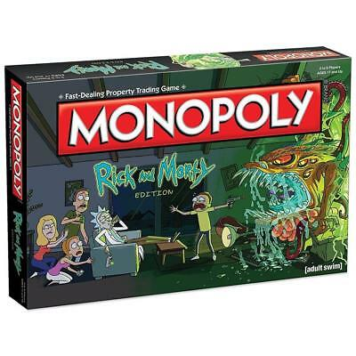 NEW Monopoly Rick & Morty Edition Board Game Adult Swim TV Series 6TAVzm1