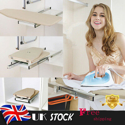 Foldable Pull Out Slide Rotary Ironing Board Swivel for Wardrobe Carbinet Drawer