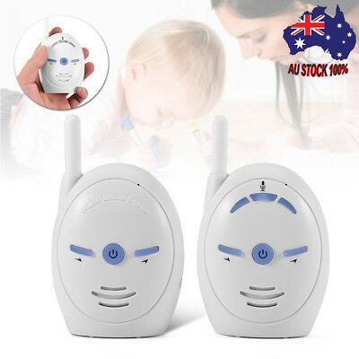 NEW SECURE FSK WIRELESS VIDEO 2.4GHZ BABY MONITOR+2 Power Adapter 110-240V White