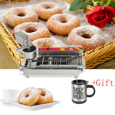 Automatic Commercial Donut Fryer Maker Making Machine Donut Robot Device+Gift US