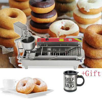 Automatic Commercial Donut Fryer Maker Making Machine Donut Robot Tool +gift