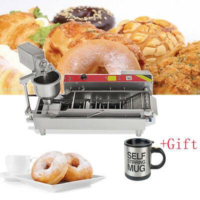 Brand New Automatic Commercial Donut Fryer Maker Making Machine Donut +gift New