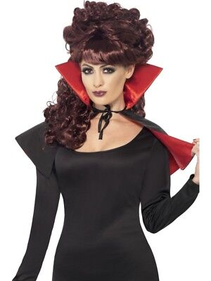 Sexy Mini Vampire Vamp Cape Ladies Halloween Fancy Dress Costume Party Accessory