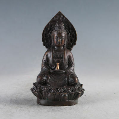 Chinese Ancient Gilt Copper Kwan-yin Made During The DaMing XuanDe