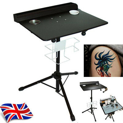 Portable Large Tattoo Mobile Work Station Stand Desk Table Workstation