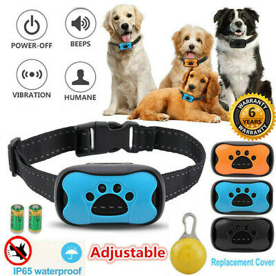 Adjustable Anti Bark Collar Stop Dog Barking Humane Training w/Sound & Vibration