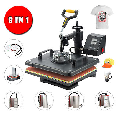 CO-Z Digital Heat Press Machine 8in1 Combo Multifunctional Transfer Sublimation