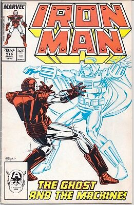 Iron Man (1968-96) #219 Direct Edition Marvel 1987 Fn 1St App Ghost /1377/