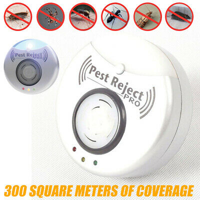 Pest Reject Pro Ultrasonic Repeller Home Bed Bug Mites Spider Roaches EU Plug