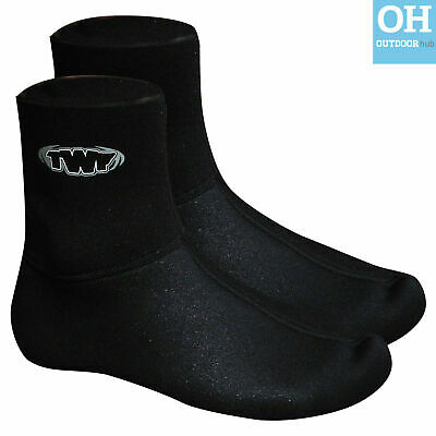 TWF 3mm Neoprene Wetsuit Socks Sox Surfing Kayaking Canoe Adult Sizes UK 3 - 12