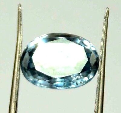 GGL Certified 5.10 Ct Oval Natural Blue Aquamarine Transparent Gemstone