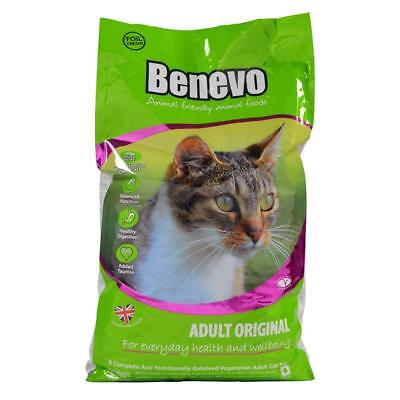 Benevo Vegan Adult Cat Food 10kg - Nutritionally Complete Food No GM Ingredients