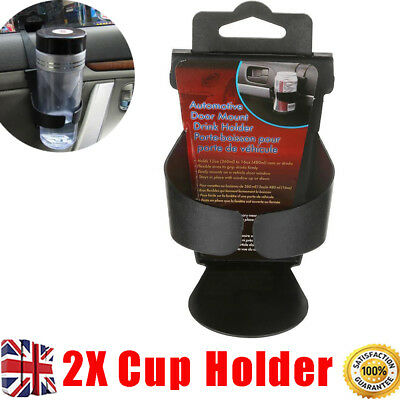 2Pcs Universal In Car Cup Holder Drink Bottle Door Window Holders Can Stand UK
