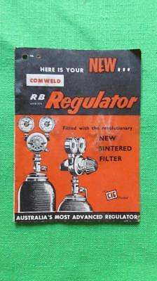1960's Circa Comweld New RB Regulator The Commonwealth Industrial Gases Limited