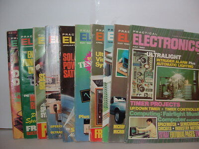 PRACTICAL ELECTRONICS MAGAZINE 10 ISSUES FROM THE 80'S. starting at 50p/issue