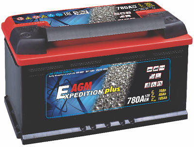 12V Expedition 105ah AGM Motorhome Leisure Battery (replaces Exide G80, 59201)