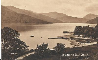 British 1920's postcard --Rowardennan, Loch Lomond a Valentine series card