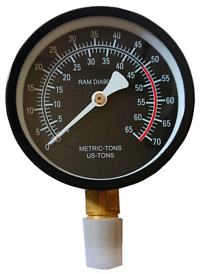 Gauge for hydraulic shop press  Manometer Spare part 20 ton
