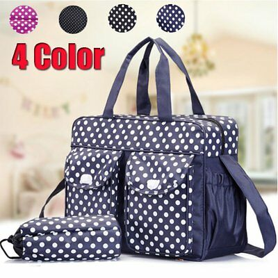 Baby Diaper Nappy Mummy Changing Handbag Shoulder Bag with Bottle Holder NEW