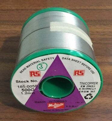 SOLDER WIRE 1.2mm MULTICORE LEAD FREE 0.5KG REEL, NEW