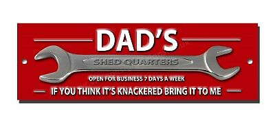 """Dads Shed Quarters Metal Sign Size 8""""x2.5"""" Man Cave Sign,garden Shed Sign."""