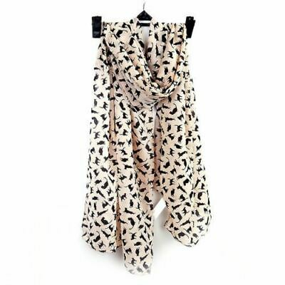 Ladies Girls Stylish Cat Print Fashion Scarves Animal Print Womens Scarf
