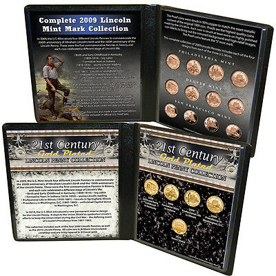 Complete 2009 Uncirculated & Proof Lincoln Mint Mark Collection