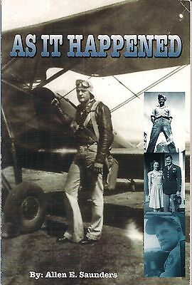 As It Happened by Allen E. Saunders (Signed)