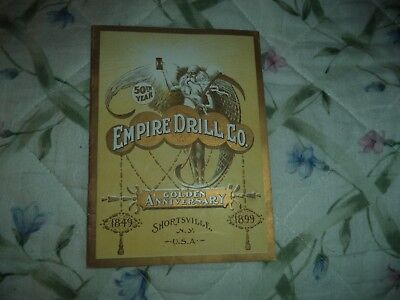 Antique 1899 Empire Drill Co. Golden Anniversary Catalog Shortsville NY