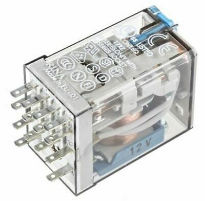Finder 4PDT Non-Latching Relay Plug In, 12V dc Coil, 7 A
