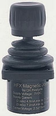 IP65, IP68 Hall Effect Joystick, 3 axes, 10 mA @ 5 V ac 5V, -25 â?? +70°C