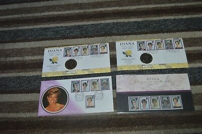 "G.B £5 Memorial Coin Cover ""Diana Princess Of Wales 1961 - 1997"" & 2 x stamp set"