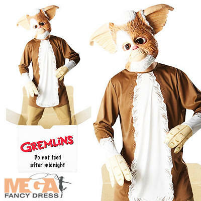 Gremlin Gizmo Mens Fancy Dress 80s Halloween Movie 1980s Adult Costume + Mask