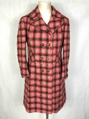 SARTORIA VINTAGE '70 Cappotto Donna Lana Scotland Wool Woman Coat Sz.M - 44