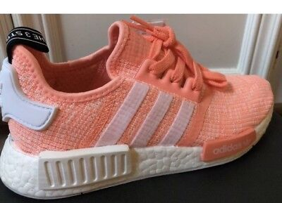 e473c627bb9 New Adidas NMD R1 Sun Glow Salmon Pink Haze Coral Size 5.5 BY3034 Boost  Womens