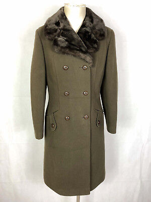 CULT VINTAGE '70 Cappotto Donna Lana Wool Woman Coat Sz.M - 44