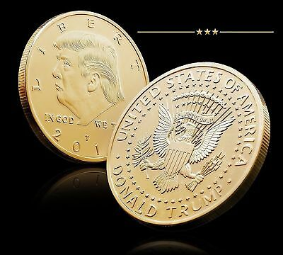 2018 President Donald Trump Gold Plated Commemorative hobby coin Collectibles