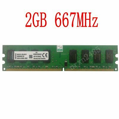 New For Kingston 2GB PC2-5300 DDR2 667MHz CL5 KVR667D2N5/2G Desktop Intel Memory