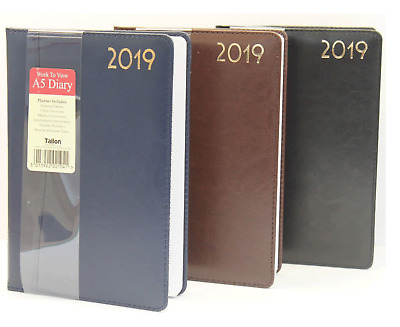2019 Diary A5 Ladies Mens Diary Week To View Leather Effect Design