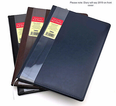 2019 Diary A4 Ladies Mens Diary Week To View Leather Effect Design