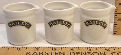 3 Baileys Irish Cream Liqueur Creamers Side Cars Shot Glasses For Coffee