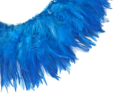 """25 TURQUOISE TEAL BLUE DYED SOLID ROOSTER TAILS CRAFT MILLINERY FEATHERS 8/""""-10/""""L"""